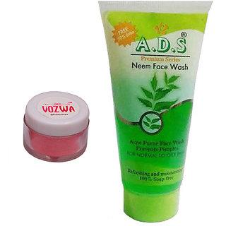 Vozwa Reddish Shimmer Powder with Neem Face Wash-(RedShimmerNeem)
