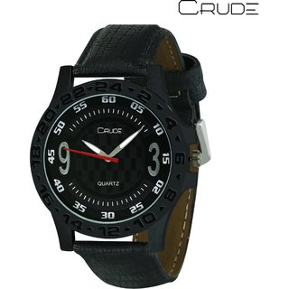 Crude Smart Analog Watch rg431 With Leather Strap for - Men's  Boy's