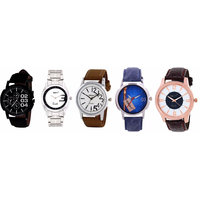 DCH NWC-14 Exclusive 5 Watch Combo For Men's/Boys