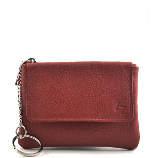 Full Grain Red Coin Pouch