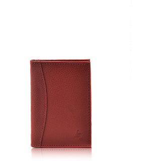 Full Grain  Red Card Holder (Synthetic leather/Rexine)