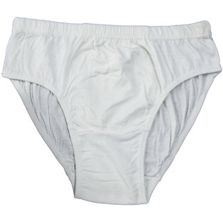 Lyril Budget White Briefs for men - pack of 3 pcs