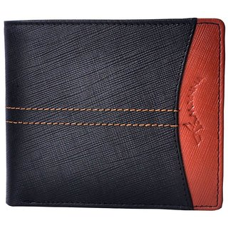 Tamanna Men Black Genuine Leather Wallet  (8 Card Slots)