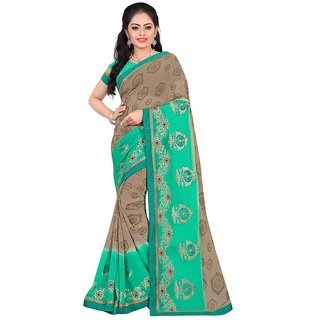 Karishma Green Georgette Lace Saree With Blouse