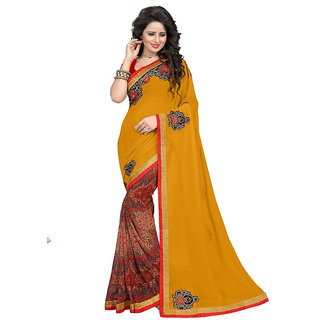 Grihlaxmi Red Georgette