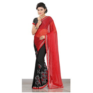 Grihlaxmi Black Georgette