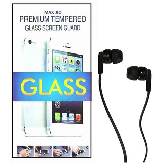 Tempered Glass Screen Protector Vivo Y15 With Champ Earphone