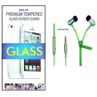 Tempered Glass Screen Protector OnePlus One With Zipper Earphone