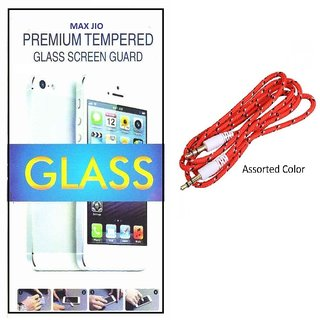 Tempered Glass Screen Protector Sony Xperia C With Aux Cable
