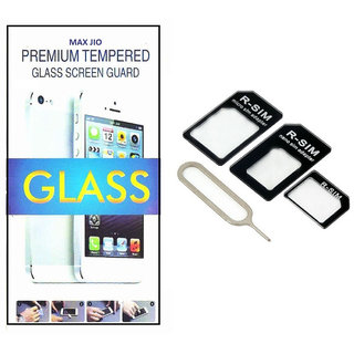 Tempered Glass Screen Protector vivo X5 With Nossy Nano Sim Adapter