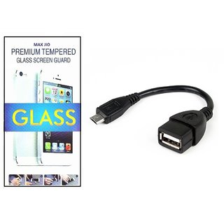 Tempered Glass Screen Protector Nokia Lumia 1320 With Otg Cable