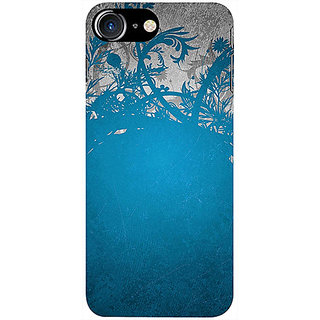 Casotec Blue Floral Pattern Design 3D Printed Hard Back Case Cover for Apple iPhone 7