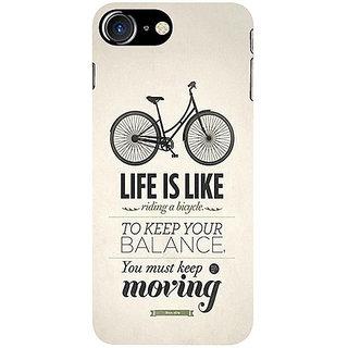 Casotec Life Pattern Print Design 3D Printed Hard Back Case Cover for Apple iPhone 7