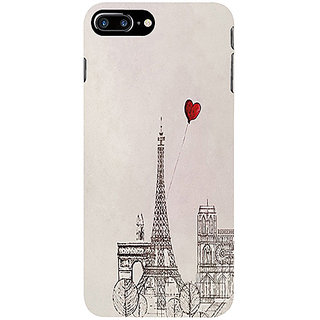 Casotec Paris Red Heart Design 3D Printed Hard Back Case Cover for Apple iPhone 7 Plus