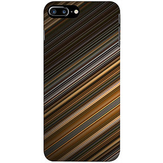 Casotec Stripes Design 3D Printed Hard Back Case Cover for Apple iPhone 7 Plus