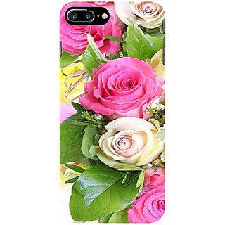 Casotec Rose Flowers Design 2D 3D Printed Hard Back Case Cover for Apple iPhone 7 Plus