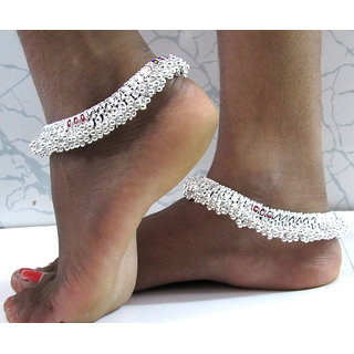 Silver Layer anklet