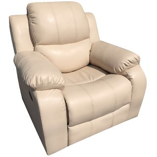 ZoHa BodyTouch Genuine Leather ROCKING and REVOLVING RECLINER
