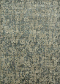 Modern Hand Knotted Light Blue Wool  Art Silk Area Rugs By Jaipur Rugs