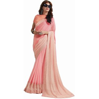 sudarshansilk Pink Synthetic