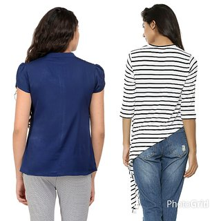 4f3bb4a30 Buy Women's Top And Shirt Combo Of 2 Online - Get 55% Off