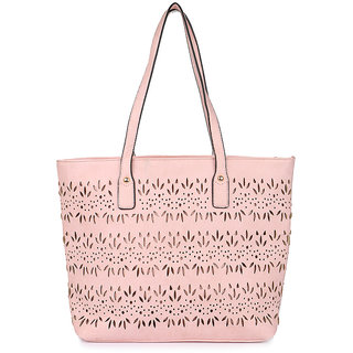 Cappuccino 26015Light-pink Handbag