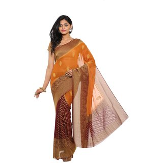 sudarshansilk Orange Chiffon