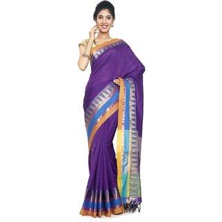 sudarshansilk Purple Cotton