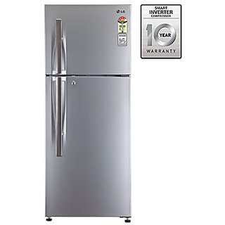 lg refrigerator decals. lg gl-i292rpzl 260 litres frost free double door 4 star refrigerator (silver) lg decals e