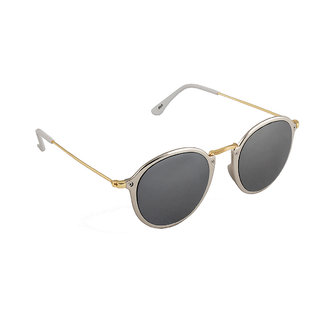 6by6 Silver And Golden Round Unisex Sunglasses