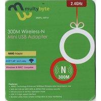 N300  Multibyte Mini Wireless Wi-Fi Nano USB WiFi Adapter Dongle 2.4GHz 300 mbps 802.11N