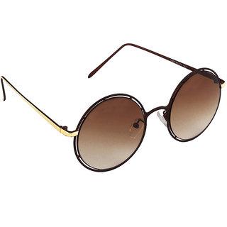 6by6 Maroon Round Women Sunglasses