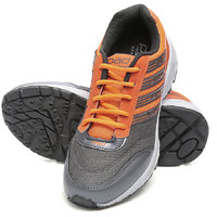 Combit Gray And Orange Sport Shoes For Men
