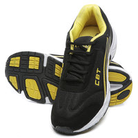 Combit Black And Yellow Sport Shoes For Men