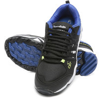 Combit Black And Royal Blue Sport Shoes For Men