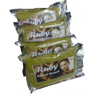 RUBY MEHANDI POWDER 400 GMS TRIPLE FILTERED