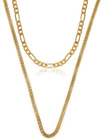 Dipali Combo Of Two Gold Plated Alloy Chain