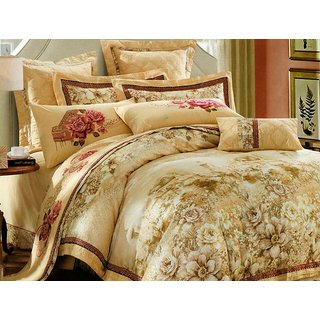 100 Cotton Cotton Double Bedsheet with 2 Pillow Covers