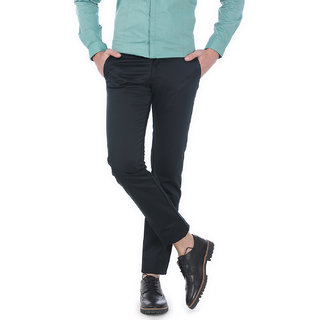 Basics Tapered Fit Dark Green Satin Trousers
