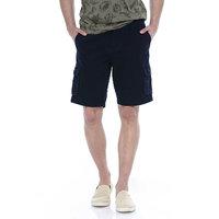 Basics Comfort Fit Dark Navy 6 Pocket Cargo Shorts