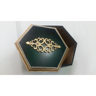 Small Size Decorated Wooden Gift Box Cum Jewelry Box