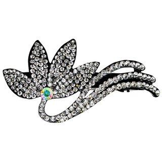 Glitters Silver Colour American Diamond Hair Clip