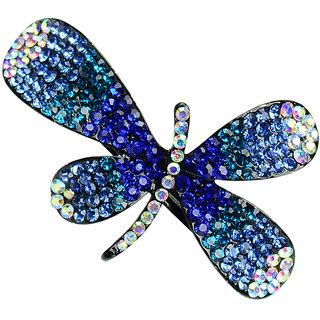 Glitters Blue Colour American Diamond Hair Clip