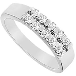 Sublime Diamond Wedding Band In 14K White Gold