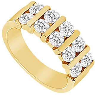 Ravishing Diamond Wedding Band In 14K Yellow Gold