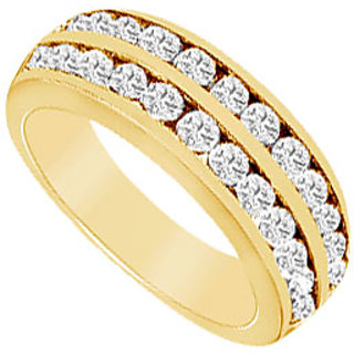 Pulchritudinous Diamond Wedding Band In 14K Yellow Gold