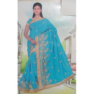 Bhagya Blue Maheshwari Cotton