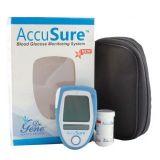 Dr Gene Accusure Blood Glucose Monitor System Glucose Meter ( 10 Test Strips Free)