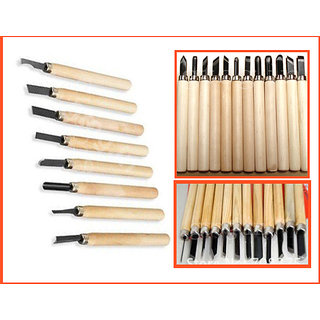 10 Pc Wood Carving Hand Woodworkers Tool Knife Chisel Set