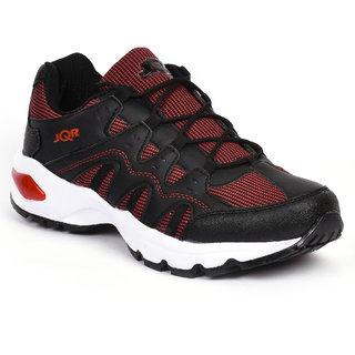 Jqr Mens Black Lace-Up Sport Shoes